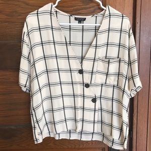 Plaid Topshop Shirt